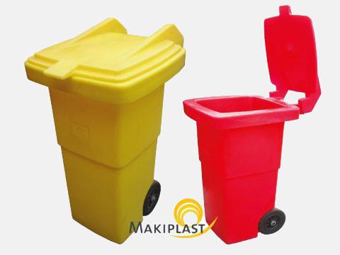 Poubelles plastiques mobiles